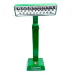 Luminária Fluminense Led De Mesa A Toque Verde