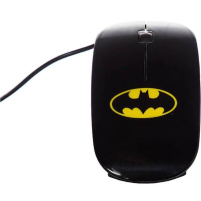 Mouse Batman Preto Dc Comics