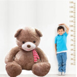 Pelúcia Urso Gigante Com Laço 94cm Marrom