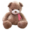 Pelúcia Urso Grande Com Laço 58cm Marrom
