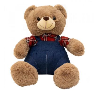 Pelúcia Urso Macacão Xadrez 31cm
