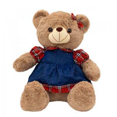 Pelúcia Urso Vestido Xadrez 31cm