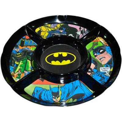 Petisqueira Redonda Batman Preta Em Melamina