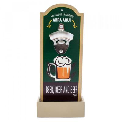 Abridor De Garrafas Beer Abra Aqui