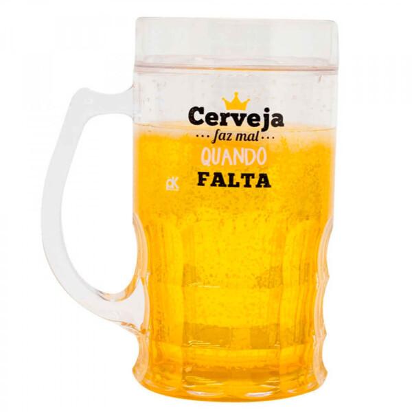 Caneca Cerveja Faz Mal Quando Falta 400ml