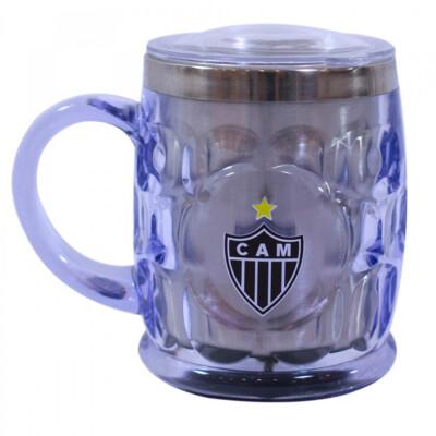 Caneca Térmica Atlético Mineiro Com Tampa 500ml