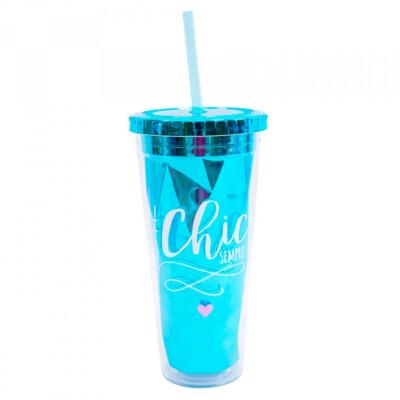 Copo Azul Chic Sempre 650ml