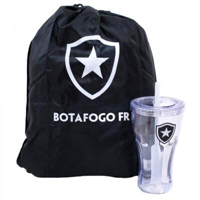 Copo Com Canudo Botafogo 550ml E Mochila Tipo Saco