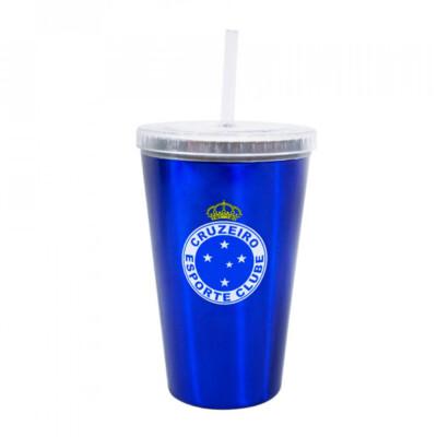 Copo Cruzeiro De Plástico Canudo 500ml