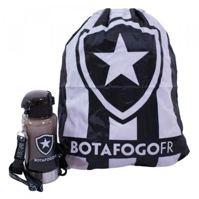 Garrafa 500ml Botafogo Com Mochila Tipo Saco