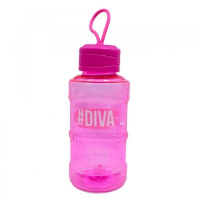 Garrafa Galão Pink #diva 450ml