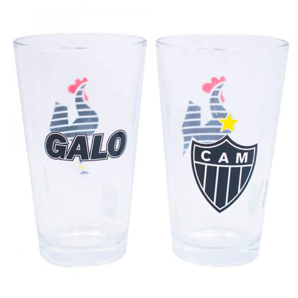 Conjunto Atlético Mineiro 2 Copos De Vidro 475ml