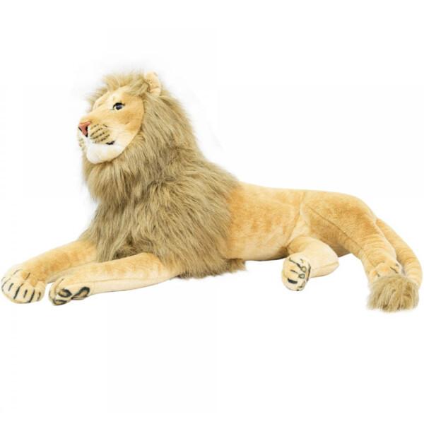 Pelúcia Leão Realista Deitado 90cm