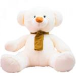 Pelúcia Urso Branco Cachecol Marrom 60cm