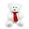 Pelúcia Urso Branco Cachecol Vermelho 35cm