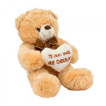 Pelúcia Urso Coração Amo Mais Que Chocolate 21cm