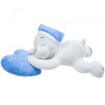 Pelúcia Urso Dormindo Coração Azul 46cm