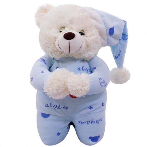 Pelúcia Urso Que Reza Pijama Azul Claro