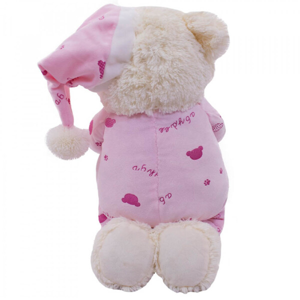 Pelúcia Urso Que Reza Pijama Rosa Claro