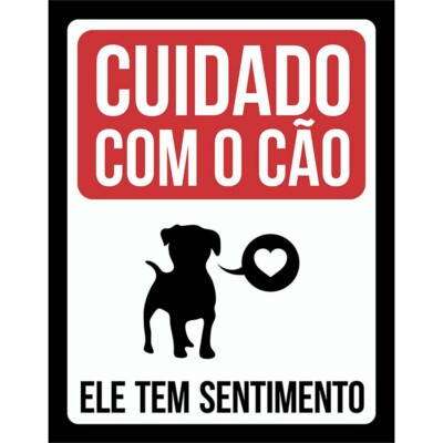 Placa Decorativa Cão Com Sentimento 214