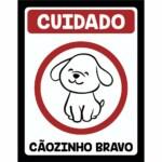 Placa Decorativa Cãozinho Bravo 246