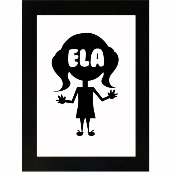 Placa Decorativa Dama Ela 15×21 8008
