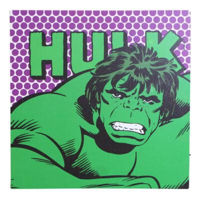 Quadro Hulk Com Led 40x40cm