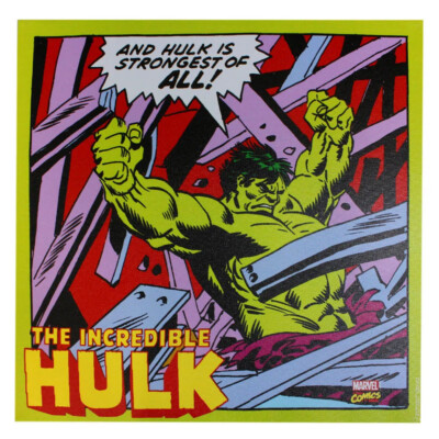 Quadro Hulk Em Ação 40x40cm
