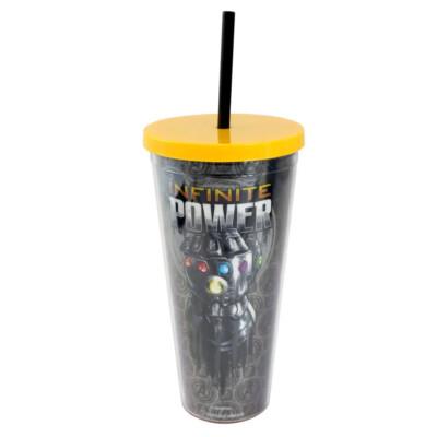 Copo Thanos Manopla Com Canudo 650ml